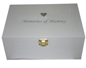 """Bereavement Memory Box Memories of Mummy - option 6"""" x 4"""" frame"""