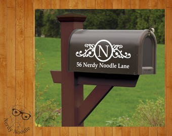 Mailbox Decal, Custom Mailbox Decal, Address Decal, Mailbox Numbers, Mailbox Monogram, Mailbox Stickers