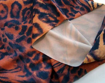 Tiger print fabric, animal print fabric, tiger animal print fabric