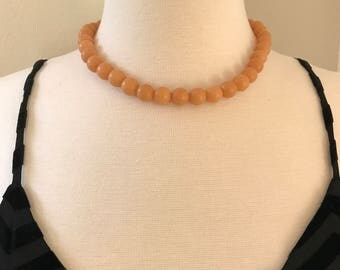 Designs by Paula Neutral Coral Beads Necklace Smooth Matt Finish