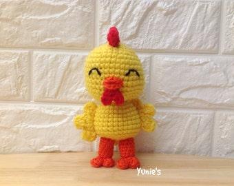 Crochet amigurumi Chicken, cute chicken amigurumi toy, crocheted chicken toy