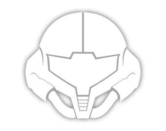 Metroid - Samus Aran Visor decal