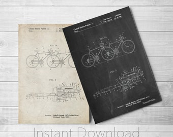 Tandem Bicycle Printables, Bicycle Built for Two, Bicycle Art, Bicycle Wall Decor, Apartment Wall Art, Hipster Decor, PP1084