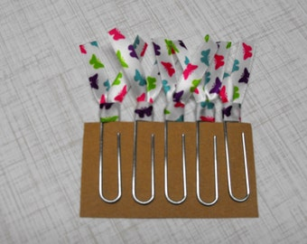 Ribbon Paper Clip, Planner Clips, Ribbon Bookmark, Teacher Gift