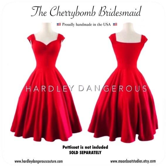 Cherry Red Bridesmaid Dresses
