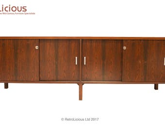 Solid Rosewood Danish Mid Century Sideboard Media Unit Credenza Retro G Plan Eames Era