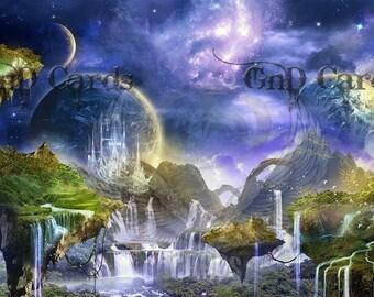 Art Print **Waterfalls** 13x19 Inches MTG
