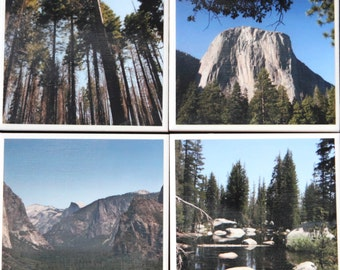 Set of 4 Yosemite National Park coasters