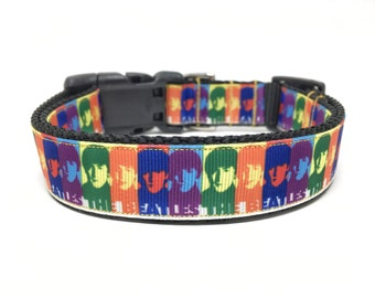 The Beatles Dog Collar Adjustable
