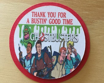 12 Party Favor Tags.Ghost Busters Tags. Cupcake Topper. Ghost Busters Theme