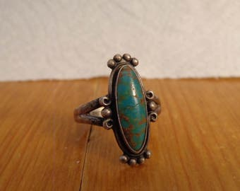 Sterling Silver and Turquoise Ring - size 8 by Bell Trading Co.