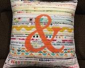 Ampersand Throw Pillow Casing!