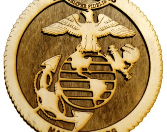 Marine Corps Mini Plaque 6 CR8-0146""