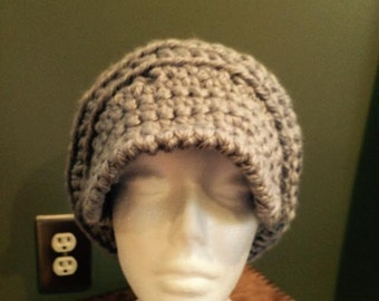 Thick Crochet Hat With Brim