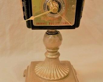 Kodak Brownie Bullet Camera Clock Upcycled