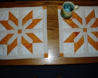 Large Place Mat Set of two - Gold Table Decor - Housewarming Gift - Teacher Gift