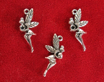 "10pc ""fairy"" charms in antique silver style (BC1214)"