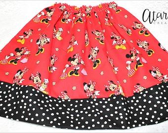 Minnie skirt / Minnie Mouse Skirt / Handmade girls skirt /  Girls Skirt / Toddler Girl skirt / children skirt / Made in USA