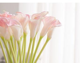 real touch calla lily silk cala artificial cala weeding cala bouqut 5pcs