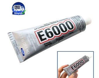 E6000 Clear Industrial Strength Glue Adhesive 1 Oz Wood Glass Ceramics Plastics  WA 130-007