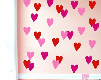 Nursery Decals. Heart Decals. Wedding Wall Decor. Heart Wall Decals. Wall Decal. Bedroom wall decals. Wall sticker. Home decor decals.