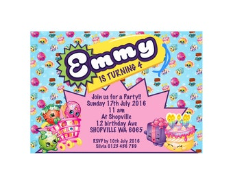 Shopkins Party Printable Invitation