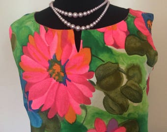 Vintage Hawaiian Dress- L