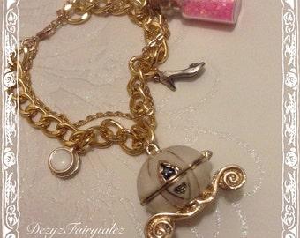 Cinderella Carriage Locket And Fairytale Charm Bracelet