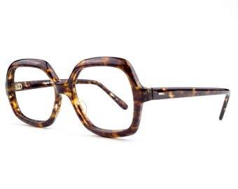 60s Vintage Eyeglasses | Oversized Tortoiseshell Glasses | NOS 1960s Big Eyeglass Frame | Deadstock Eyewear - Raquel