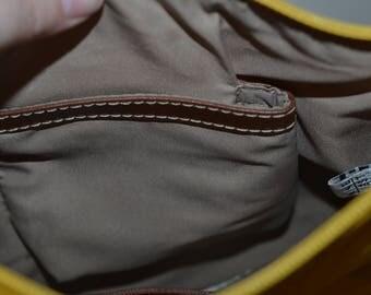 Vintage sun yellow golden purse shoulder bag