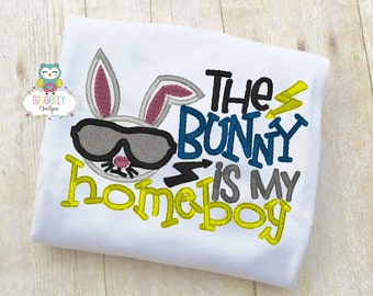 The Bunny is my Homeboy Shirt, The Bunnies Love Me, Boy Easter Shirt, Boy Egg Hunt Shirt, Boy Easter Pictures Shirt, Easter Shirt, Easter