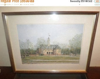 Save 25% Now Beautiful Vintage Framed Print of English Castle Artist Signed Montnai Wood Frame