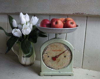 Rustic Weighing Scales - Salter Pastel Green