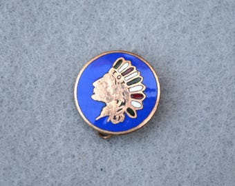 Indian Head TOTE Pin Vintage