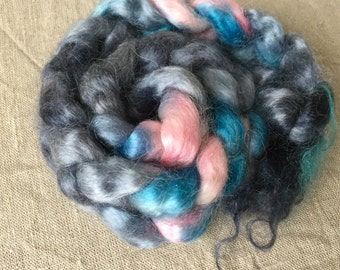 Kid mohair roving top 22, to the spinning and felting