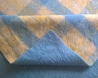 """Dutch vintage Mid-Centuries wool blanket Nederlandse Wolfederatie 61"""" /88,6"""" inch"""