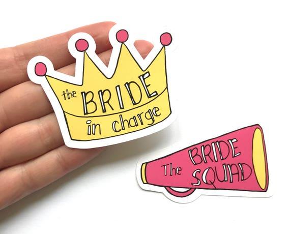 Bridal Party Sticker Set