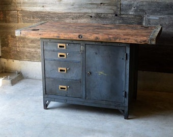 Reclaimed Naval Cabinet with a Ship Hatch Top  *** Local Pickup Only***