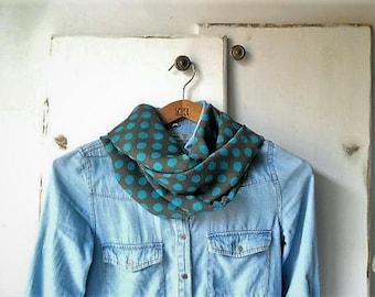 Lightweight scarf, polka dot scarf, infinity scarf, summer scarf, summer accessories
