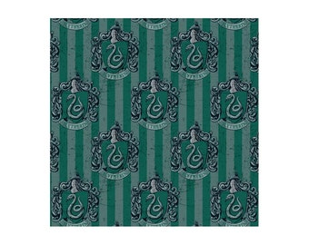 Harry Potter Fabric Slytherin Green From Camelot 100% Cotton