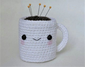 Coffee Cup Amigurumi (Pin Cushion)