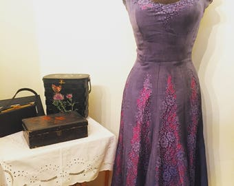 RESERVED. Amazing genuine Karen Stark /Harvey Berin vintage 50s dress