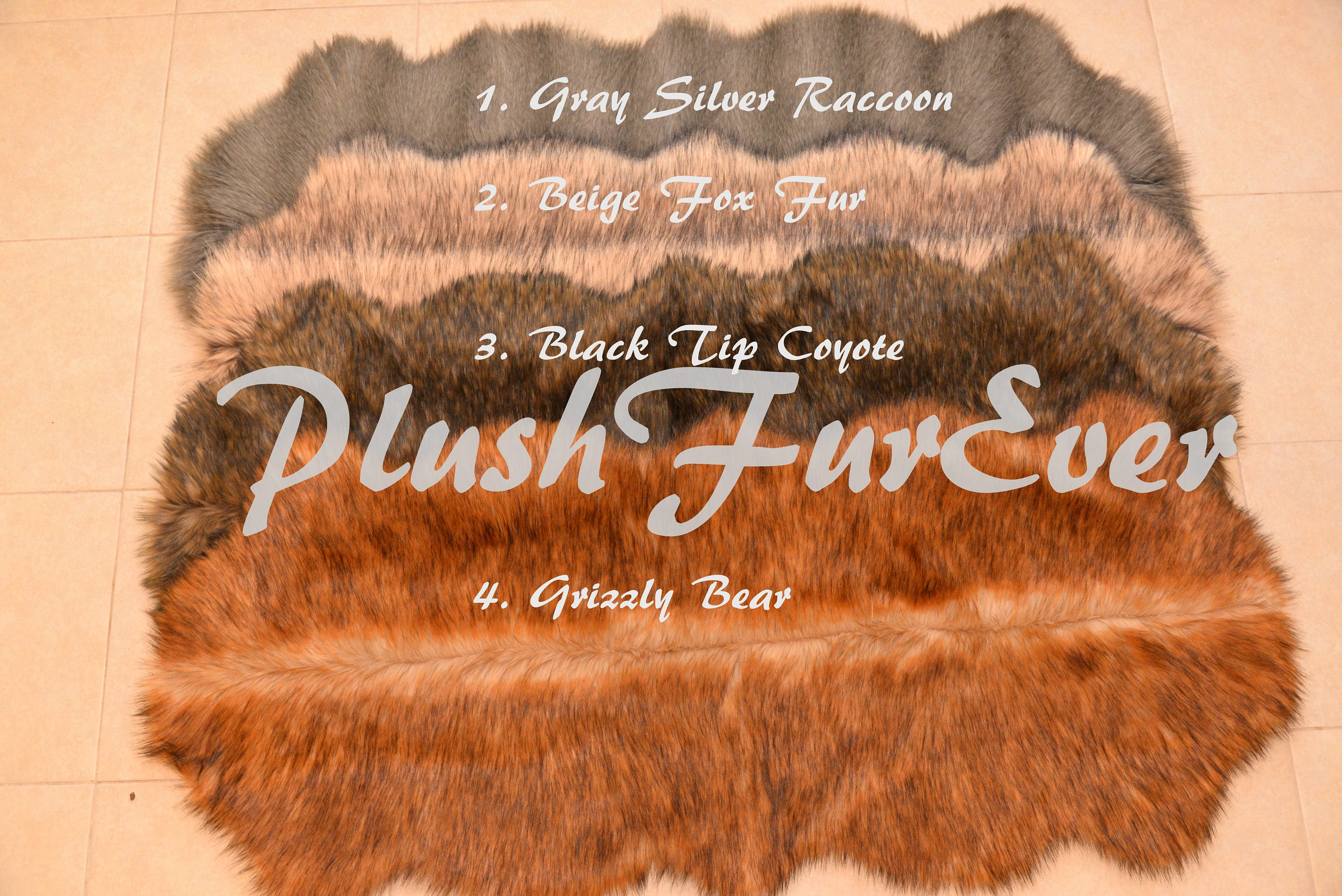 20 Dollar Off New Arrival Beige Fox Grizzly Fur Shaggy