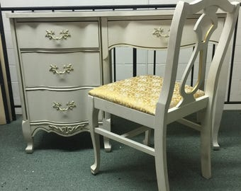SALE! French Louis XV Desk and Chair