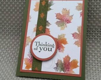 Thinking of You Fall Leaf Card
