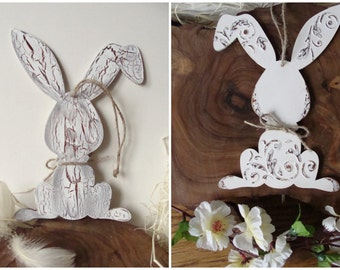 Easter Bunny Country Decor, Wooden Rabbit, Distressed Bunny Decor, Wood Crafts Decorations, Original Easter Decor, EASTER BUNNY shabby style