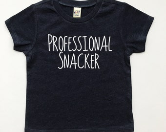 Professional Snacker tee for infants, toddlers, children