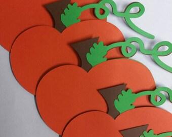 6 Pumpkin Die Cuts/6 Pumpkin Cut Outs