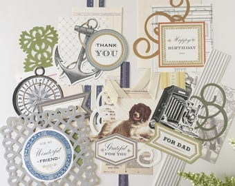 For Him Collage Toppers by Anna Griffin