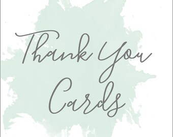 Thank You Cards; Printable or set of 25